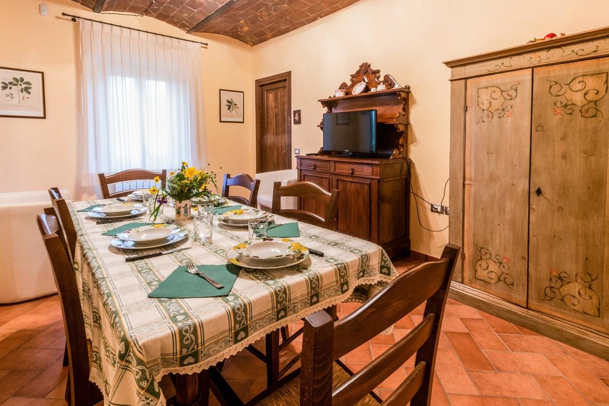 Appartamento Donatella - Sala da pranzo con TV