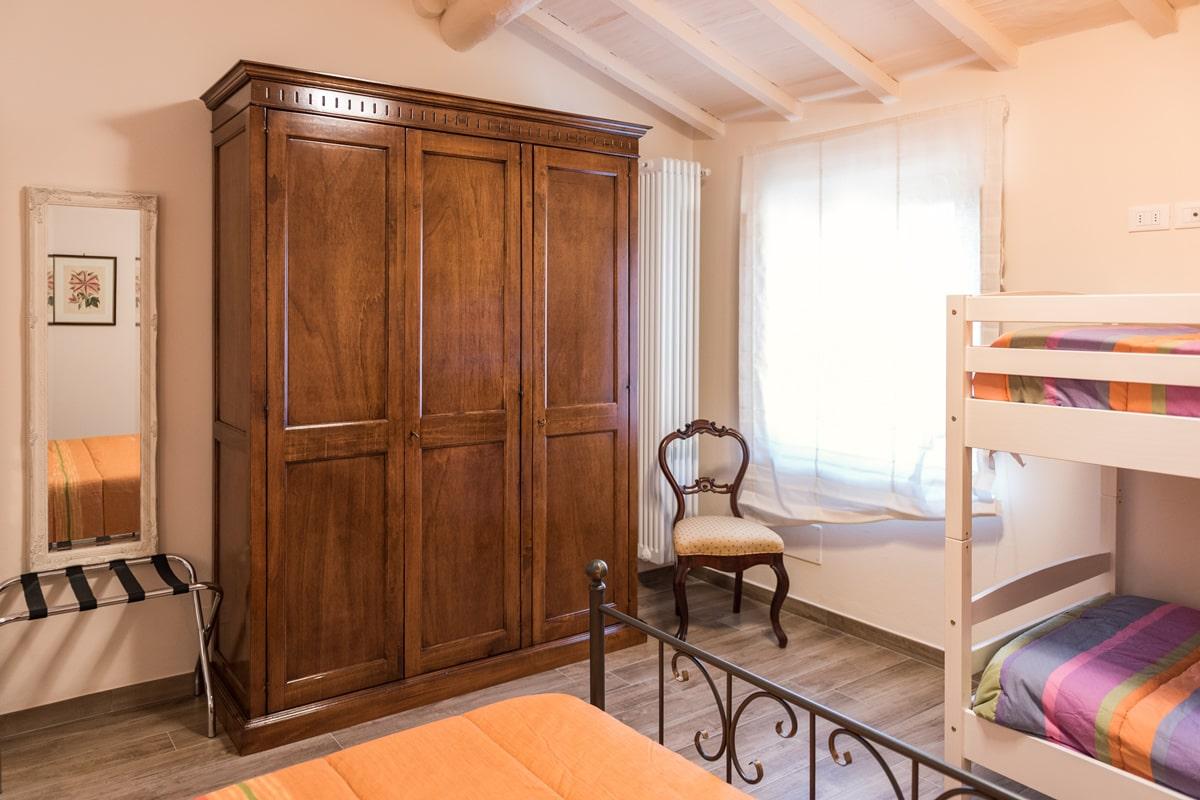 Appartamento Margherita - Camera matrimoniale con letto a castello