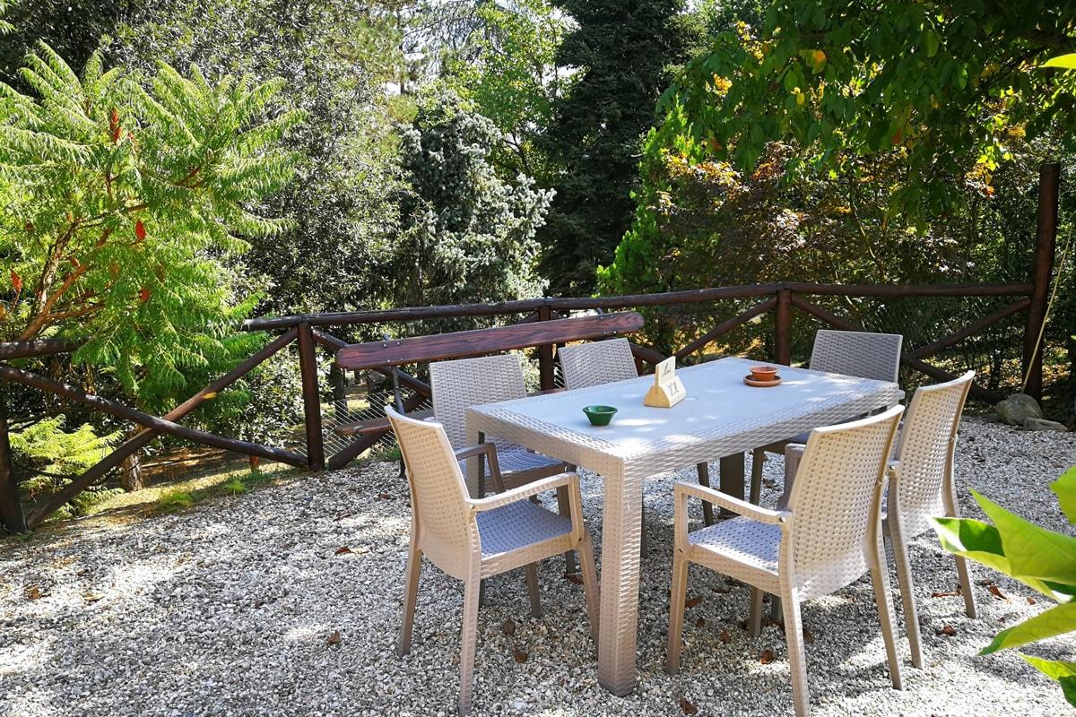 Appartamento Maria - Area esterna riservata con tavolino