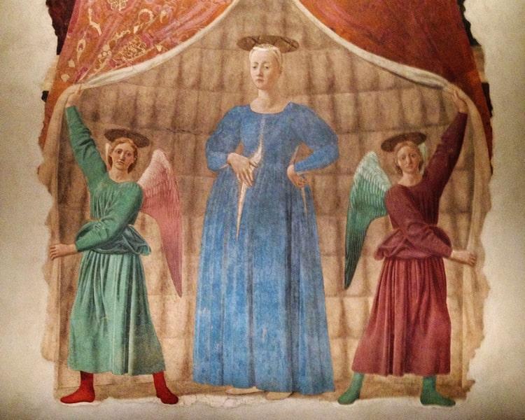Monterchi dipinto Madonna del Parto