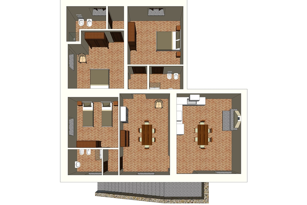 Appartamento Donatella - Planimetria