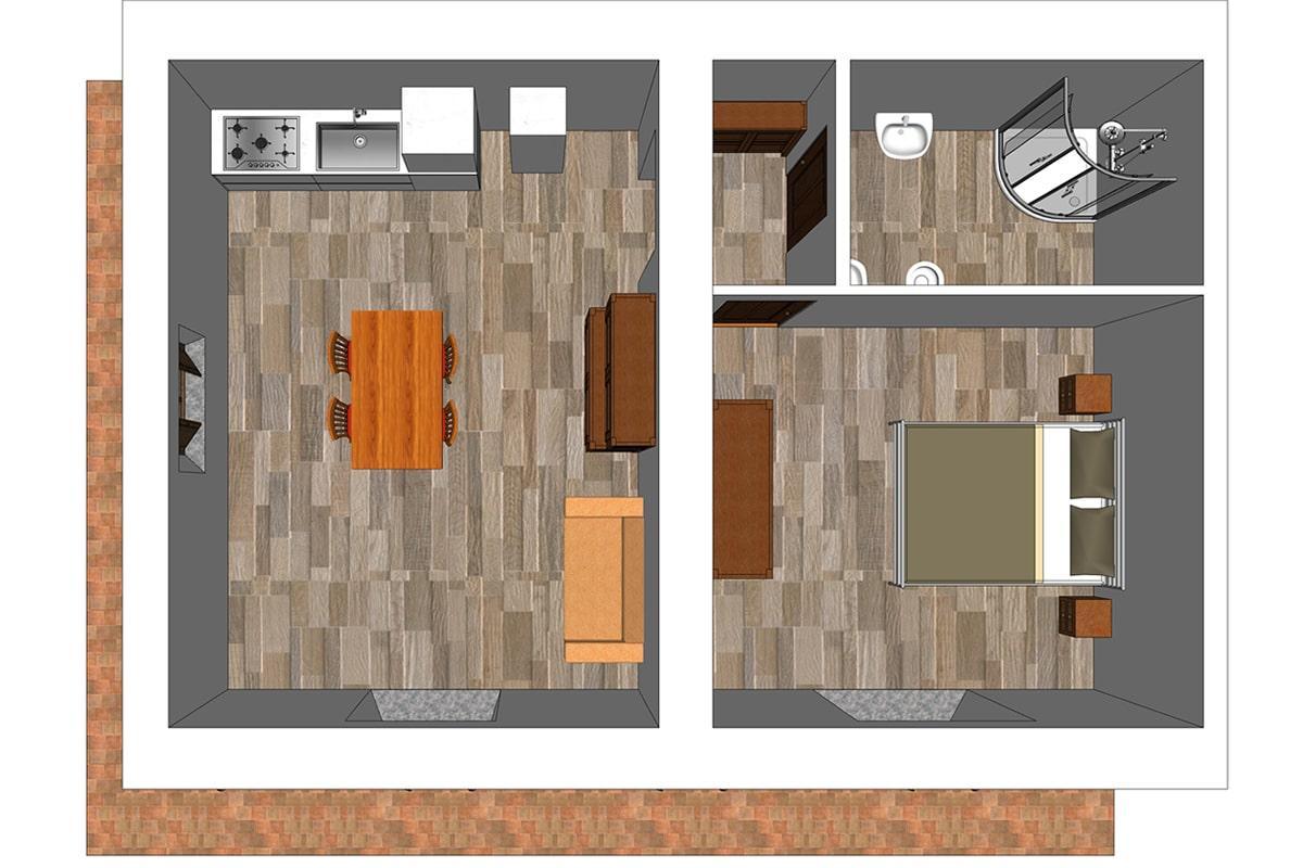 Appartamento Fabrizia - Planimetria