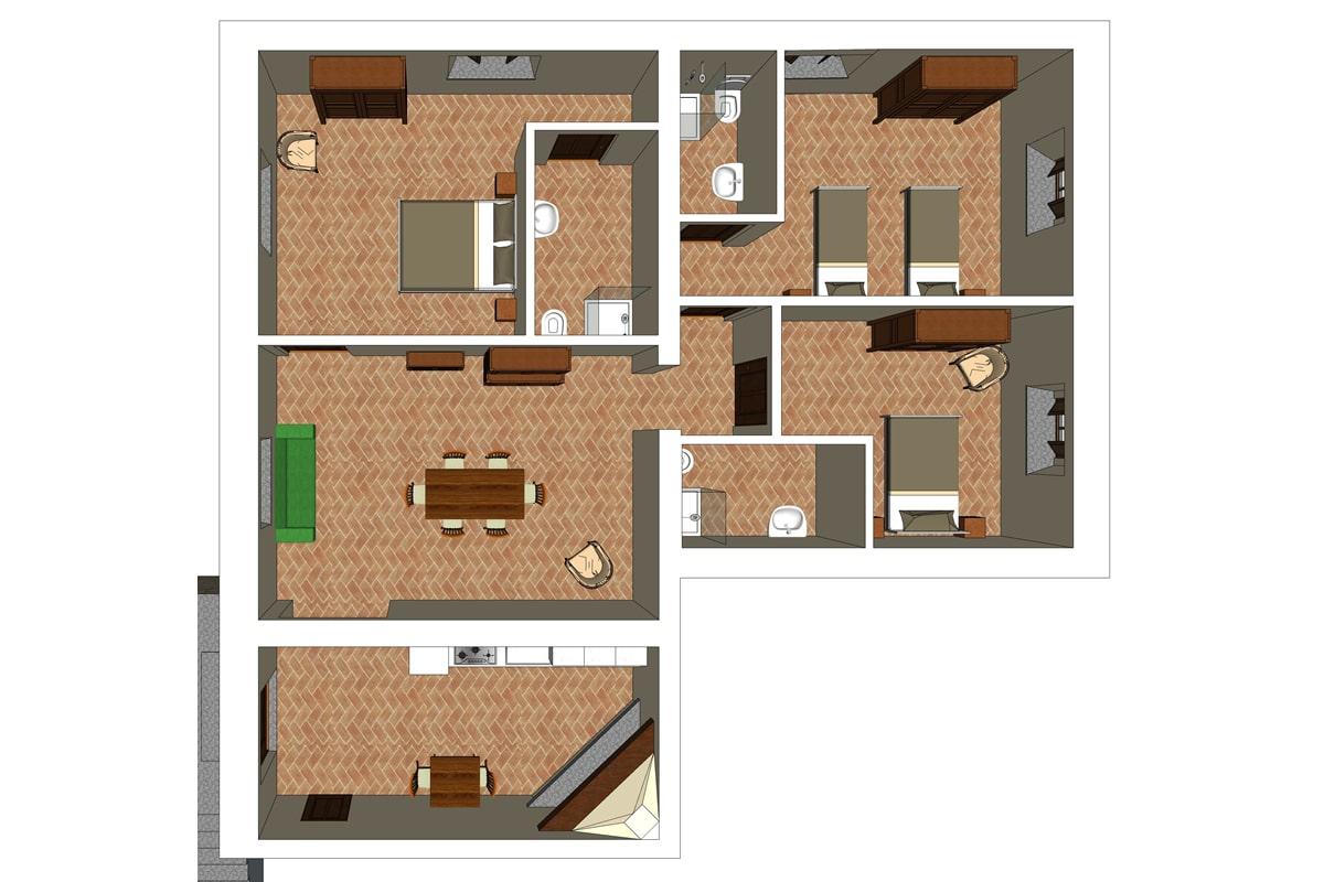 Appartamento Maria - Planimetria