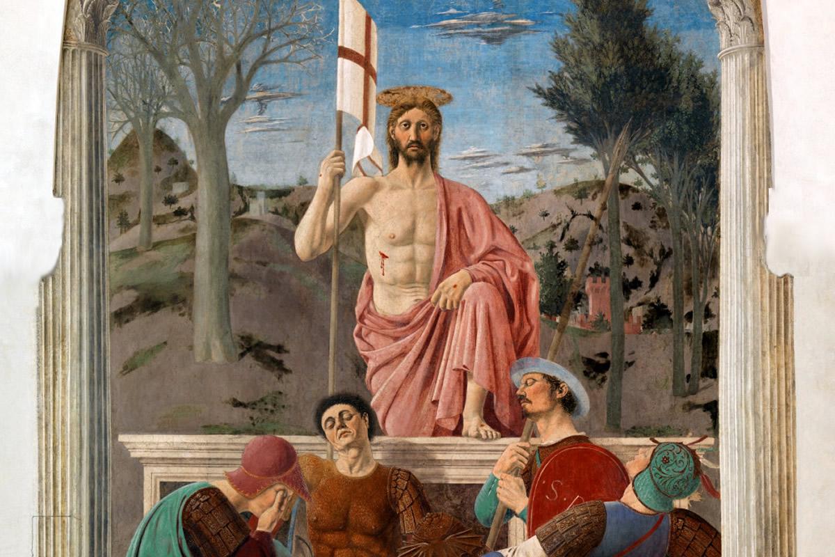 Quadro 'La resurrezione' a Sansepolcro